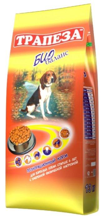 Корм для собак Трапеза Био баланс сухой корм для пожилых собак всех пород старше 6 лет (13 кг)