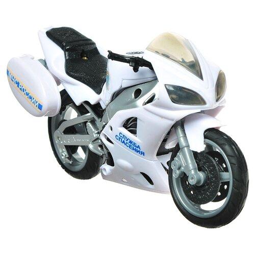 Купить Мотоцикл Autogrand Emergency Bike МЧС (33885) 1:12 18 см белый/серый/черный, Машинки и техника