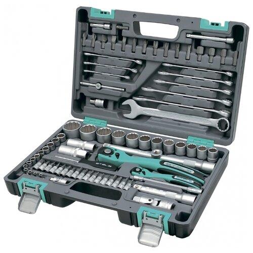 Набор автомобильных инструментов Stels (82 предм.) 14117 набор автомобильных инструментов thorvik 82 предм uts0082