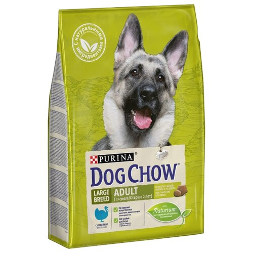 Корм для собак DOG CHOW Adult Large Breed с индейкой для взрослых собак крупных пород (2.5 кг)Корма для собак<br>