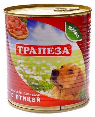 Корм для собак Трапеза Консервы для собак с птицей (0.75 кг) 9 шт.