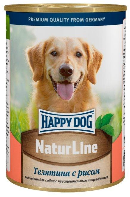 Корм для собак Happy Dog NaturLine для взрослых собак. Телятина с рисом