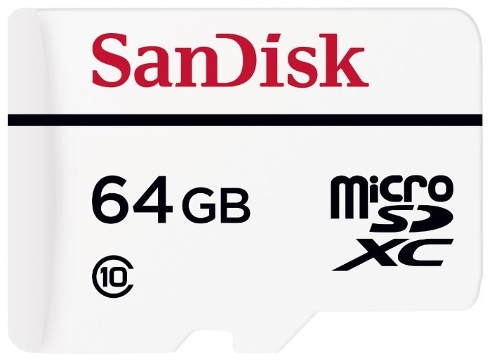 Карта памяти SanDisk High Endurance microSDXC Class 10 + SD adapter