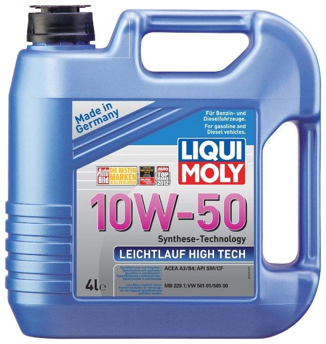 Моторное масло LIQUI MOLY Leichtlauf High Tech 10W-50 4 л
