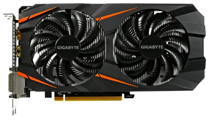 Видеокарта Gigabyte GeForce GTX 1060 WINDFORCE 2X OC 6GB, GV-N1060WF2OC-6GD