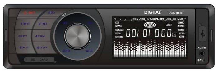 Автомагнитола DIGITAL DCA-052