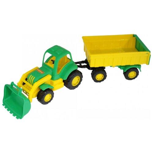 Фото - Трактор Полесье с прицепом и ковшом Крепыш (44556) 51 см трактор полесье алтай с прицепом 2 и ковшом 35363 66 см