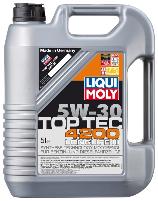 Моторное масло LIQUI MOLY Top Tec 4200 5W-30 5 л