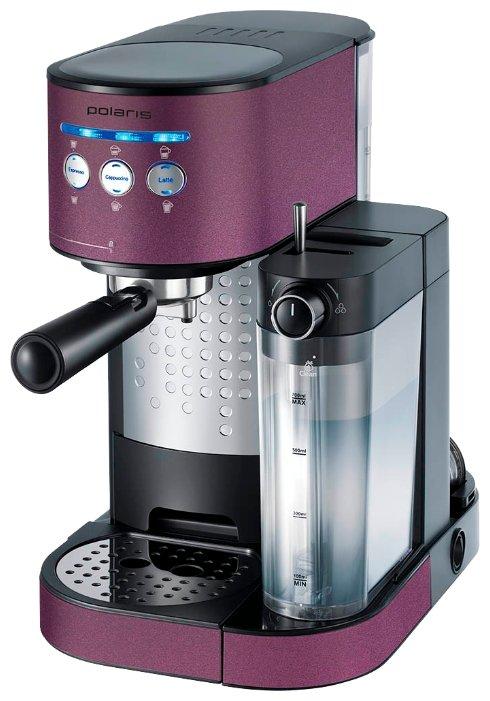 Кофемашина Polaris PCM 1525E фиолетовый