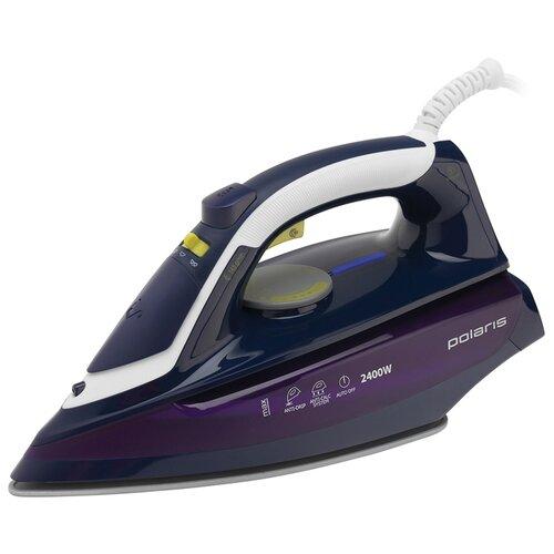 Утюг Polaris PIR 2480AК синий/фиолетовый/белый утюг polaris pir 2480aк синий фиолетовый белый