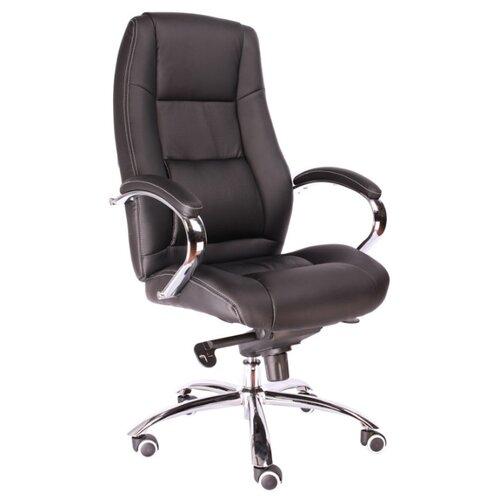 Фото - Компьютерное кресло Everprof Kron M для руководителя, обивка: натуральная кожа, цвет: черный компьютерное кресло everprof drift m для руководителя обивка натуральная кожа цвет коричневый