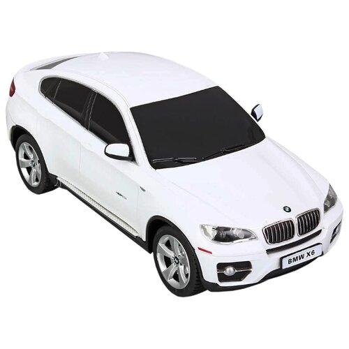 Купить Легковой автомобиль Rastar BMW X6 (31700) 1:24 20 см белый, Радиоуправляемые игрушки