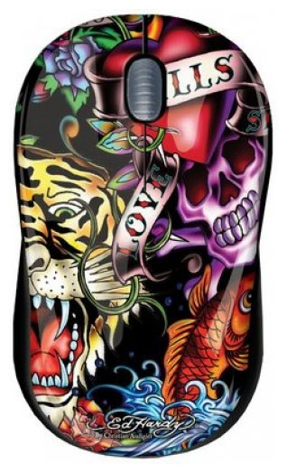 Мышь Ed Hardy Wired mouse Full Color Black USB