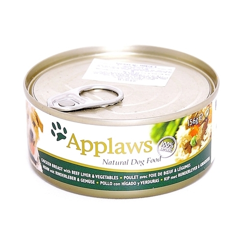 Корм для собак Applaws Dog Chicken Breast with Beef Liver & Vegetables canned (0.156 кг) 16 шт.