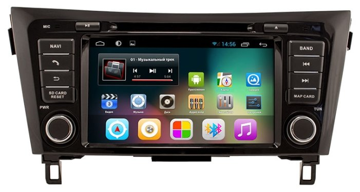Автомагнитола Smarty Nissan Qashqai 2014+ Android