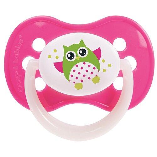 Купить Пустышка силиконовая анатомическая Canpol Babies Owls 0-6 м (1 шт) розовый, Пустышки и аксессуары