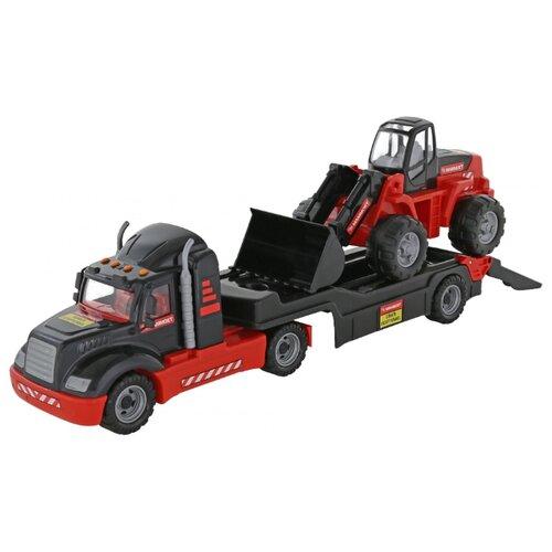 Фото - Набор машин Полесье Трейлер и трактор-погрузчик 206-01 Mammoet (56993) полесье набор игрушек для песочницы 468 цвет в ассортименте