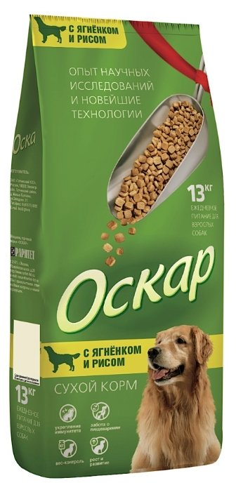 Оскар Сухой корм для собак Ягненок с рисом (13 кг)