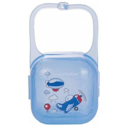 Купить Футляр для пустышек Canpol Babies Machines 0 м (1 шт.) синий, Пустышки и аксессуары