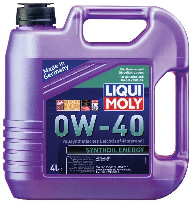 Моторное масло LIQUI MOLY Synthoil Energy 0W-40 4 л
