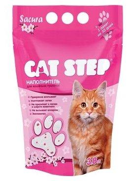 Cat Step Sacura силикагелевый (3.8 л)