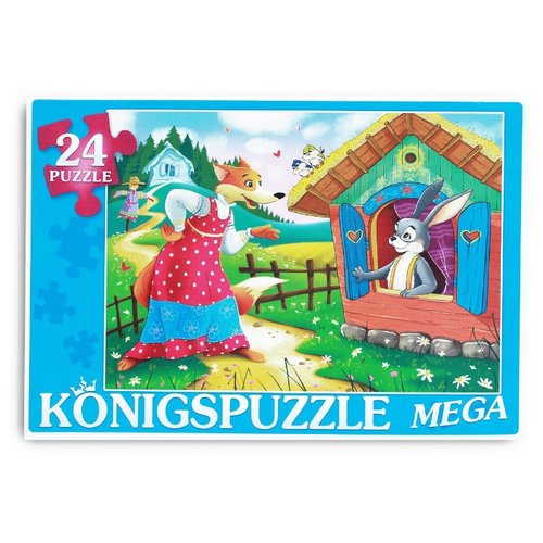 Фото - Пазл Рыжий кот Konigspuzzle Заюшкина избушка-1 (ПК24-5878), 24 дет. пазл рыжий кот konigspuzzle россия йошкар ола гик1000 6534 1000 дет