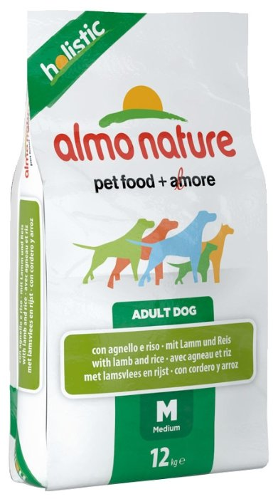 Корм для собак Almo Nature Holistic Adult Dog Medium Lamb and Rice