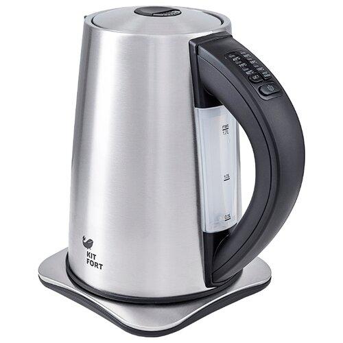 Чайник Kitfort KT-613, серебристый/черный