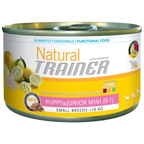 Корм для собак TRAINER Natural Puppy&Junior Mini canned (0.15 кг) 1 шт.