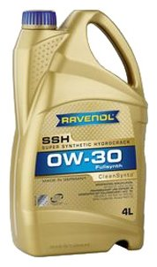 Моторное масло Ravenol Super Synthetic Hydrocrack SSH SAE 0W-30 4 л