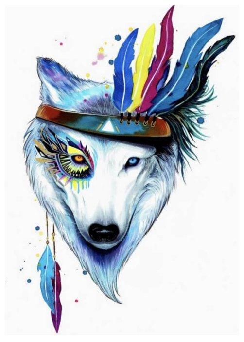 Цветной Набор алмазной вышивки Собака-индеец (LGP003) 40х50 см