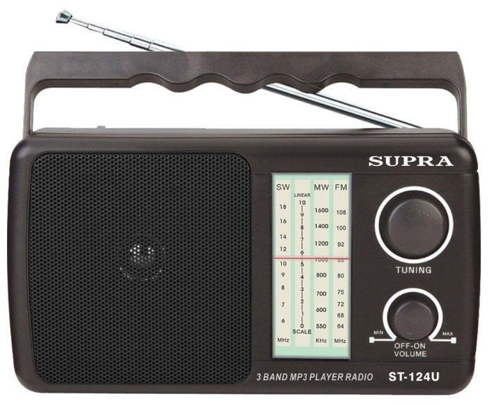 Радиоприемник Supra ST-124 black