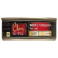 Clan De File консервы для взрослых кошек всех пород, Говядина (100 гр / 16 шт / 1)