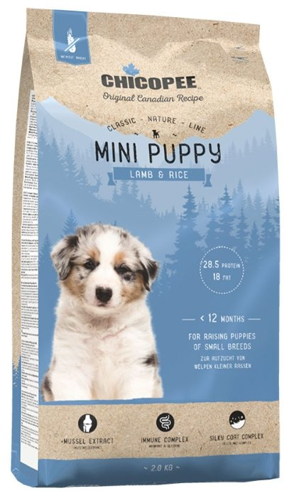 Корм для собак Chicopee Classic Nature Line Mini Puppy Lamb and Rice
