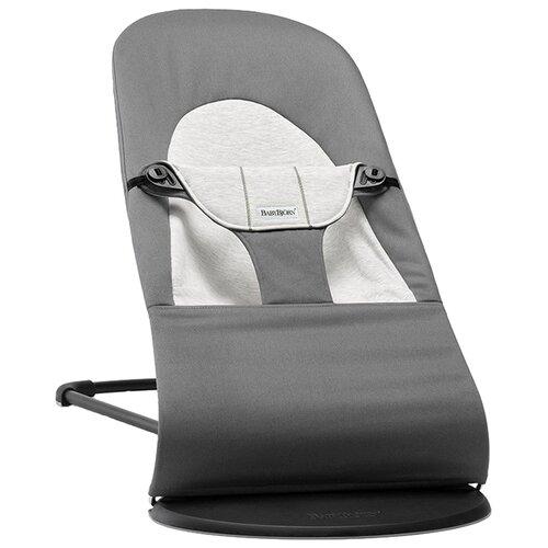цена на Шезлонг BabyBjorn Balance Soft (хлопок/джерси) dark grey/grey