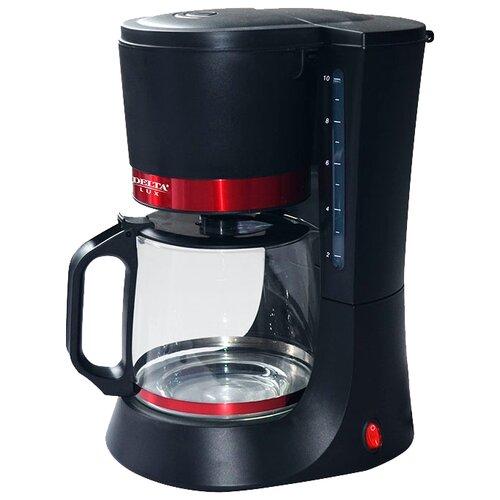 Кофеварка DELTA LUX DL-8152 черный/красный блендер delta lux dl 7313