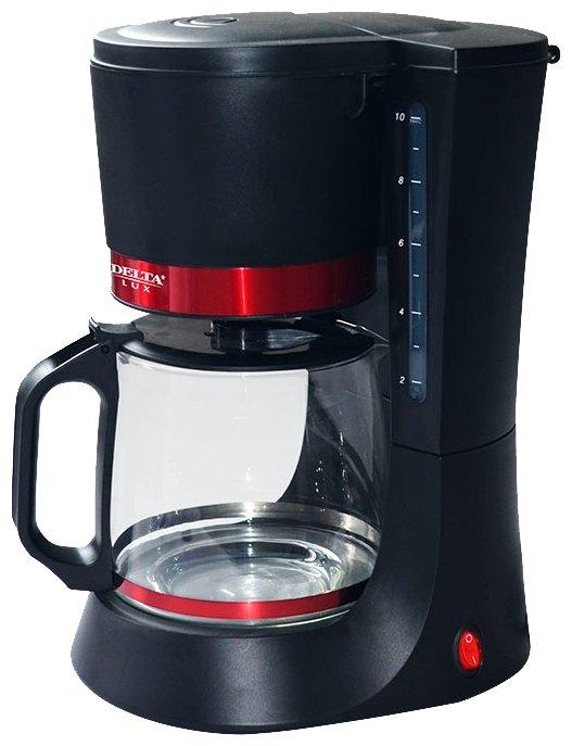 Кофеварка Delta Lux DL-8152 Black-Red
