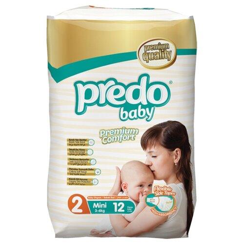 Predo подгузники 2 (3-6 кг) 12 шт. подгузники для малышей libero newborn 2 3 6 кг 94 шт