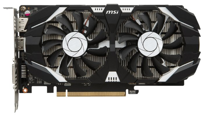 MSI Видеокарта MSI GeForce GTX 1050 Ti 1341MHz PCI-E 3.0 4096MB 7008MHz 128 bit DVI HDMI HDCP OC Dual Fans