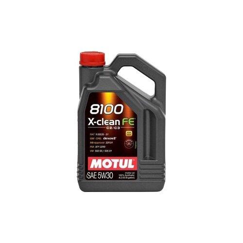 Моторное масло Motul 8100 X-clean FE 5W30 4 л моторное масло motul 8100 x clean fe 5w 30 1 л