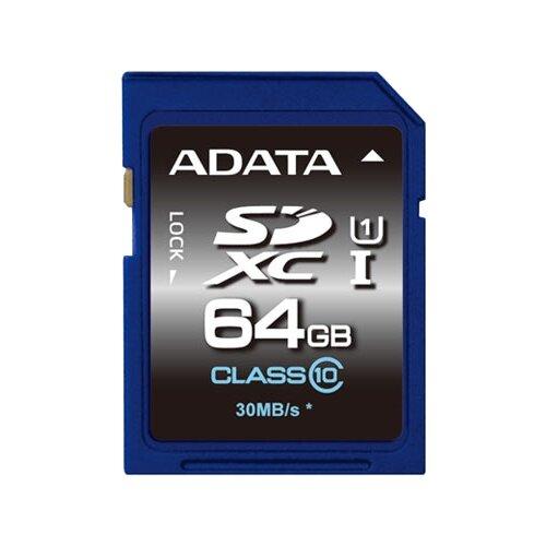 Купить Карта памяти ADATA Premier SDXC Class 10 UHS-I U1 64GB