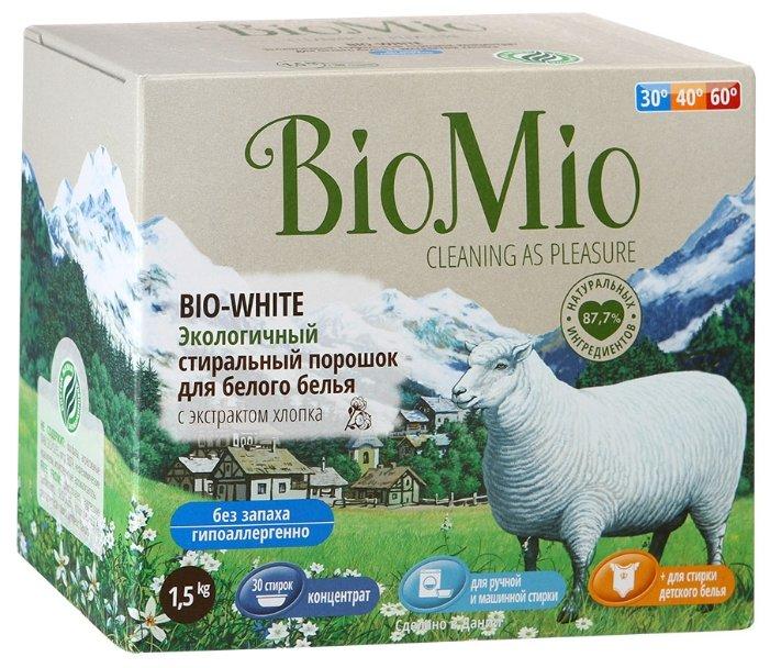 Стиральный порошок BioMio BIO-WHITE с экстрактом хлопка