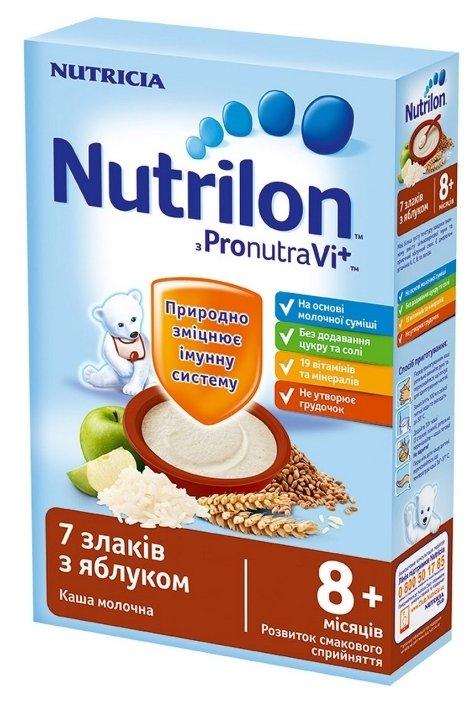 Каша Nutrilon (Nutricia) молочная 7 злаков с яблоком (с 8 месяцев) 225 г