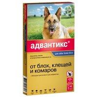 Капли Байер Адвантикс для собак более25кг от блох,клещей 1пип*4м