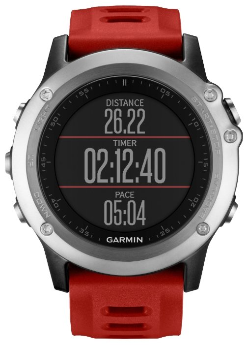 GPS-туристический Garmin Fenix 3 HRM Silver-Red 010-01338-16