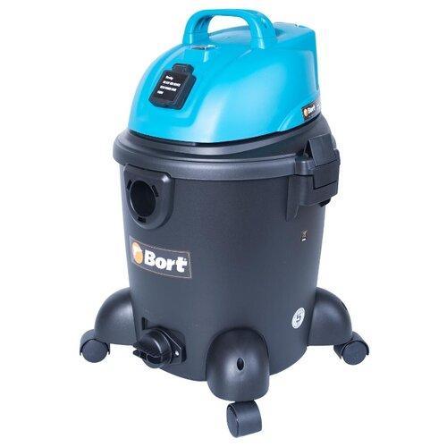 Профессиональный пылесос Bort BSS-1220 1200 Вт черный/голубой