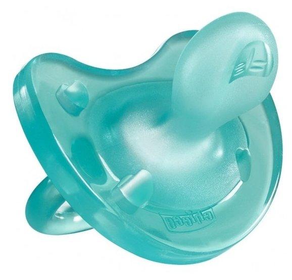 Пустышка силиконовая ортодонтическая Chicco Physio Soft 6-12 м (1 шт)