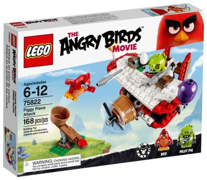 Классический конструктор LEGO The Angry Birds Movie 75822 Атака свинского самолета