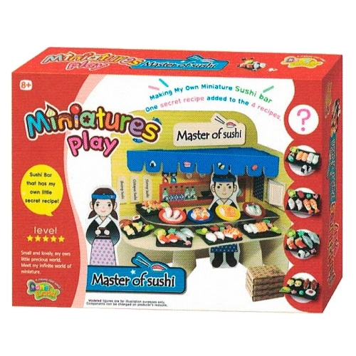 Масса для лепки Donerland Miniature Play Master of Sushi (NA15013)