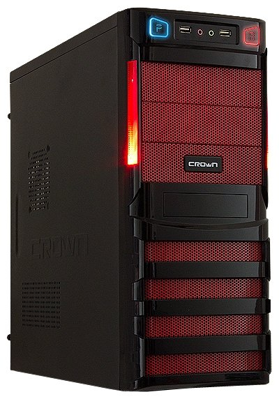 CROWN Компьютерный корпус CROWN CMC-SM162 450W Black/red